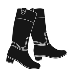 Jockey s high boots icon in black style isolated vector