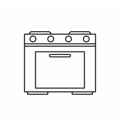 Kitchen stove icon outline style vector image