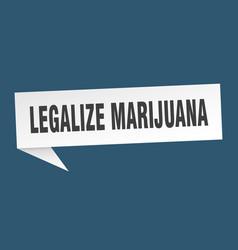 Legalize marijuana speech bubble legalize vector