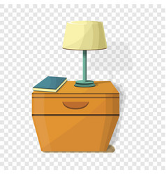 Night stand lamp icon cartoon style vector