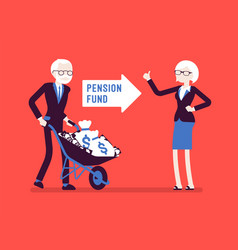 pension fund investment vector image