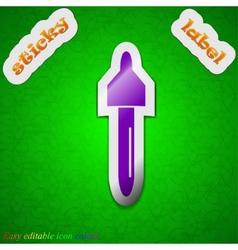 Pipette medicine dropper icon sign Symbol chic vector