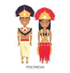 polinesian couple traditions vector image