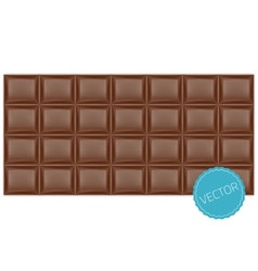 Realistic chocolate bar vector