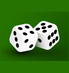 realistic game dice icon in flight closeup vector image