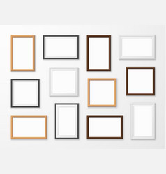 realistic image frames picture frame in different vector image
