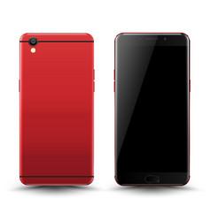 realistic smartphone mockup vector image
