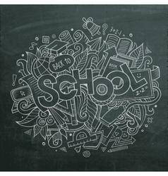 School hand lettering and doodles elements vector