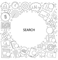 search related from line icon vector image