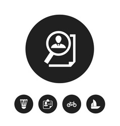 set of 5 editable complex icons includes symbols vector image