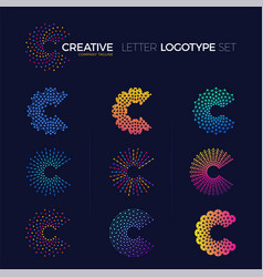 Set of clever and creative dots or point crypto vector