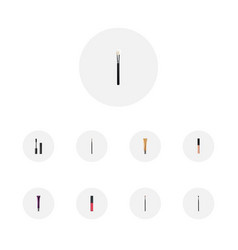 Set of cosmetics realistic symbols with concealer vector