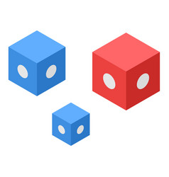 Smart colorful cubes icon isometric style vector