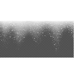 snow falling glittering snowflake light winter vector image