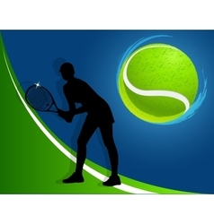 sport background tennis woman vector image