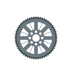 Sprocket for bicycle icon flat style vector image