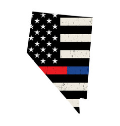 State nevada police and firefighter support vector