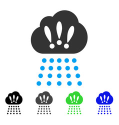 Storm cloud flat icon vector