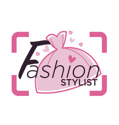 Style consultant poster with elegant stylish vector