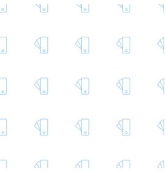 tag icon pattern seamless white background vector image