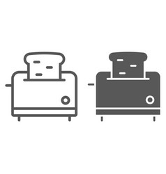 toaster line and glyph icon kitchen and cooking vector image