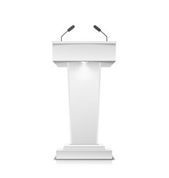tribune isolated white clean podium vector image