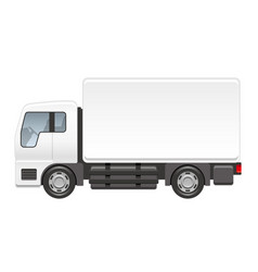 truck on a white background vector image