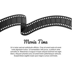 vintage film strip roll movie entertainment and vector image