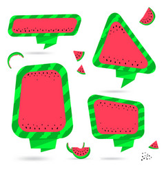 Watermelon summer bubble speech vector