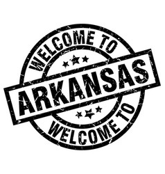 Welcome to arkansas black stamp vector
