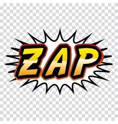 Zap comic pop art style vector