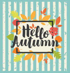 autumn banner with colorful autumn leaves vector image vector image