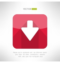 Download icon im modern flat design Clean and vector image
