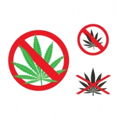 hemp is forbidden vector image
