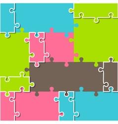 Puzzle Brochure Infographic Element vector image