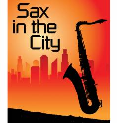 sax city vector image vector image