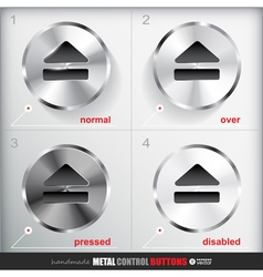 Set of four positions of Circle Metal Eject Button vector image vector image