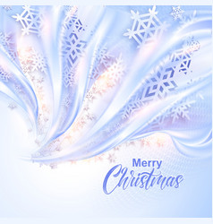 Beautiful abstract snowflake Christmas background vector image