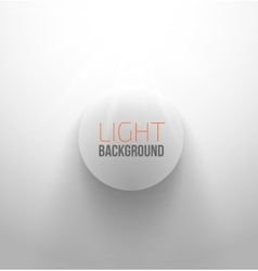 White circle button with light and shadow vector image vector image