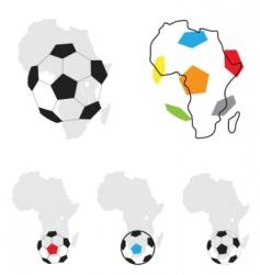 Africa football symbol vector image