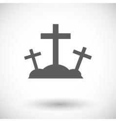 Calvary single icon vector image