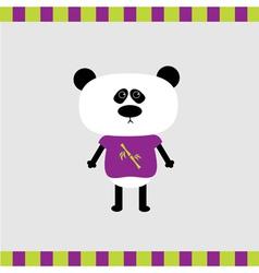 Cartoon panda boy card vector image vector image