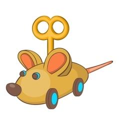 Clockwork mouse icon cartoon style vector image
