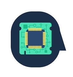 Computer Processor Chip vector image