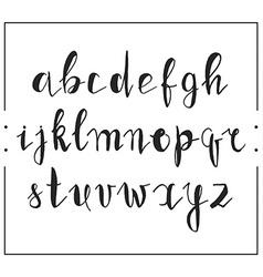 Handwritten calligraphic font alphabet written by vector image