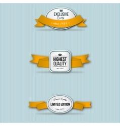 orange retro premium badges vector image