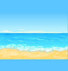 Sea coast tileable landscape vector