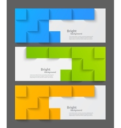 Set of banners with squares vector image vector image