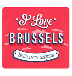 vintage greeting card from brussels vector image