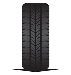 Car tyre - tire vector image vector image